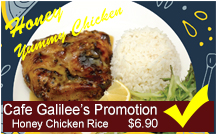 Cafe Galilee's Promotion
